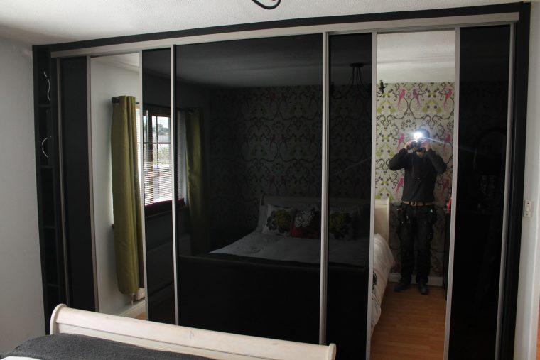 3 door black glass doors 1