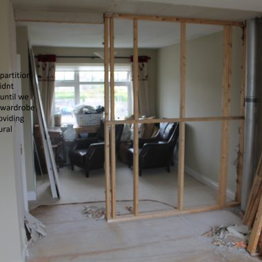 Annetta stack Plaster board and wardrobe removed  support pic