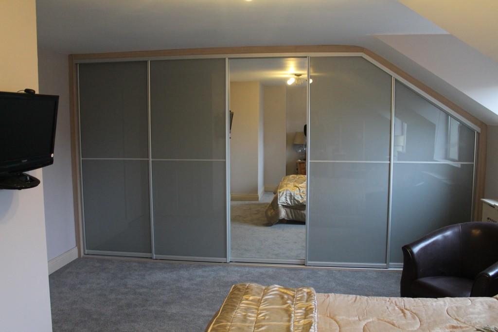Image ... & Five door angled sliding wardrobe | Swift\u0027s Furniture
